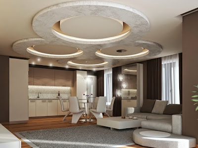 modern gypsum board false ceiling designs, LED ceiling lights