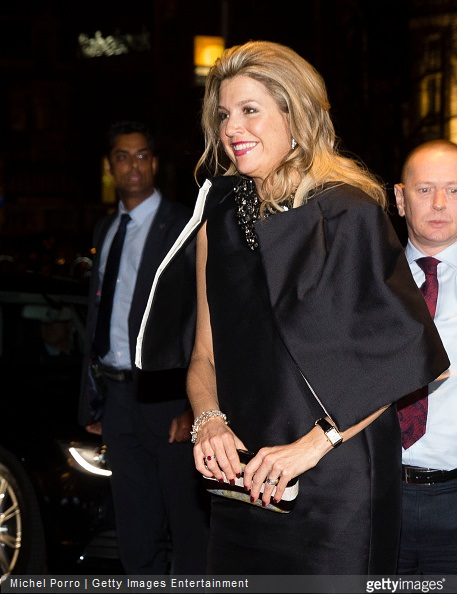 Queen Maxima of The Netherlands arrives to attend the final concert by conductor Mariss Jansons with the Royal Concertgebouw Orchestra on March 20, 2015 in Amsterdam, The Netherlands