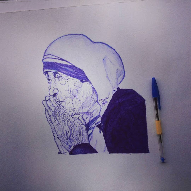 Mother Teresa by c.z.azuakor art gallery for lexhansplace