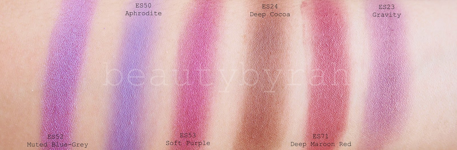 morphe brushes single eyeshadows review and swatches purples plums