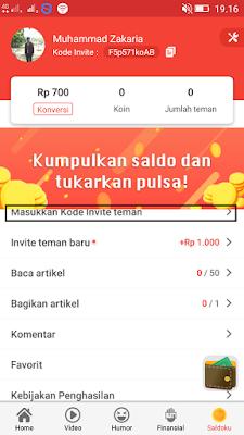 cara memasukan kode undangan dari aplikasi baca plus