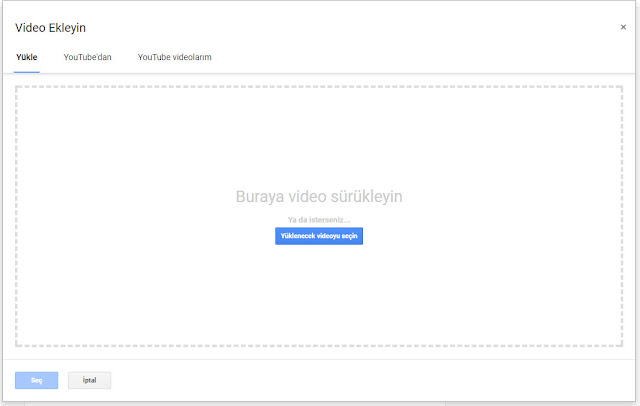 blogger video yükle