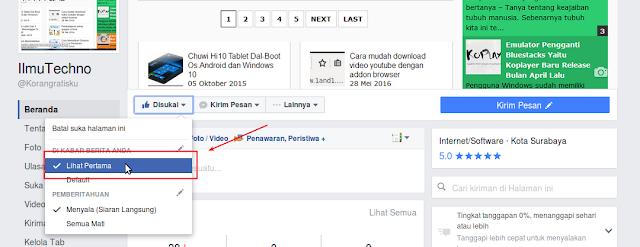 Cara Mendapat Pemberitahuan ketika anda update terbaru dari fanspage