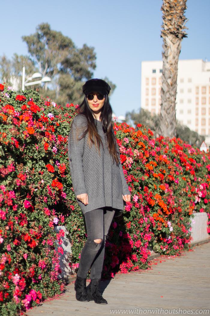 Digital influencer blogger valenciana con look comodo y estiloso con botines bonitos AGL
