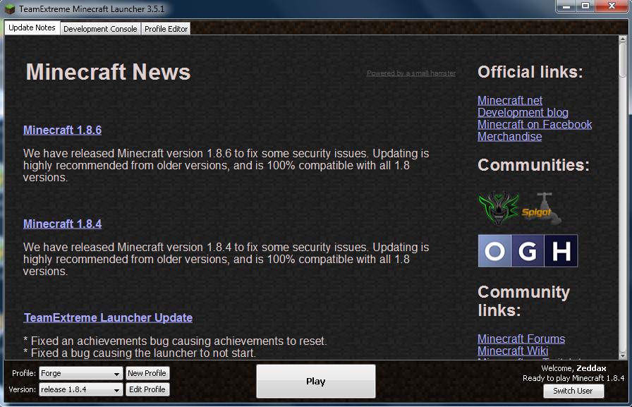 minecraft download launcher team extreme