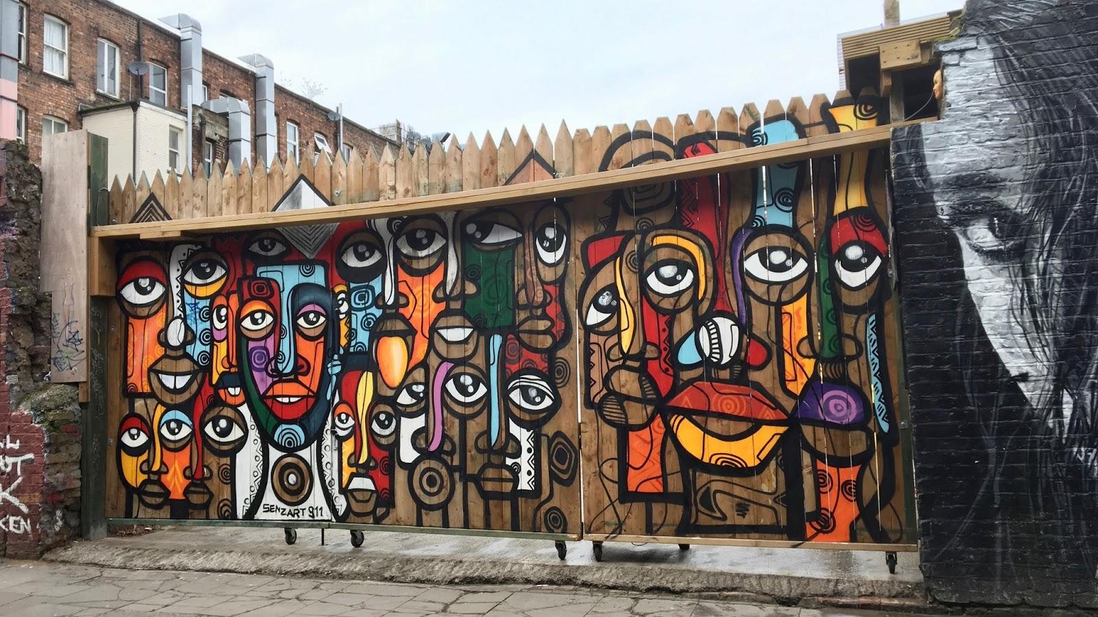 London Culture African Graffiti Art Brick Lane