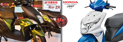 Yamaha Cygnus Ray ZR VS Honda Dio Design and Style