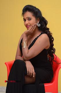 Actress Nakshatra Pictures in Black Long Dress at Miss South India 2016 Press Meet  0126.jpg