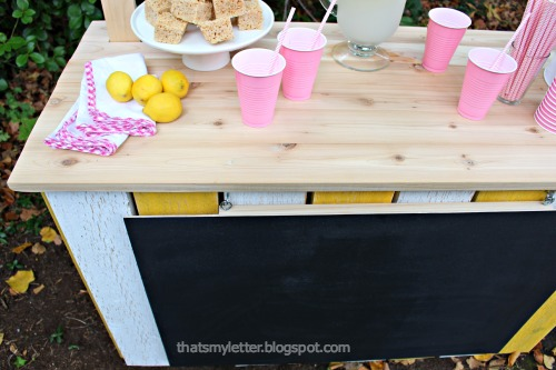 diy lemonade stand cedar top