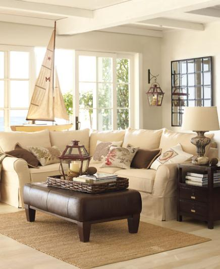 Coastal Decor Living Rooms: Moonlight Sonata..: Pottery Barn