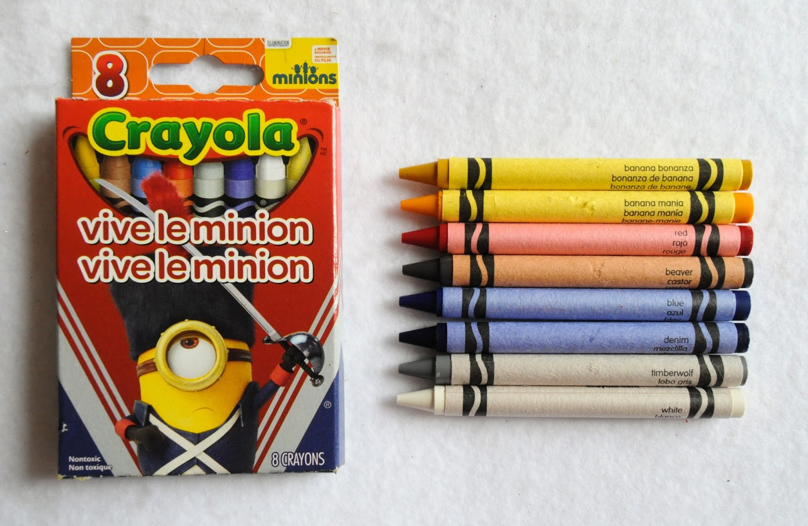 Minions Crayola Crayon Bundle Set Assorted Colors Nontoxic The Movie