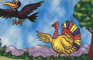 Fábula: El cuervo y el pavo