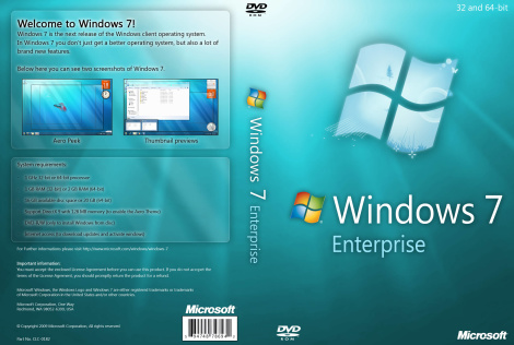 Windows 7 enterprise 32-bit and 64-bit ISO Free download