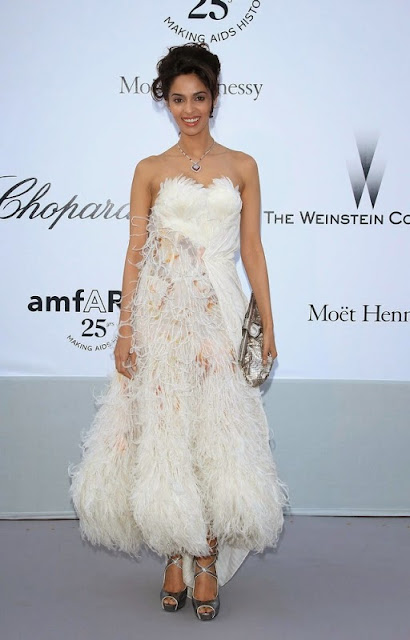 Mallika Sherawat Amfar Weinstein Cannes Film Festival Hot Cleavage
