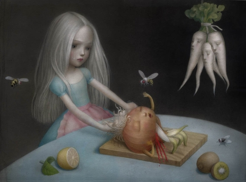 03-Girls-dont-cry-Nicoletta-Ceccoli-Surreal-Fairy-Tales-NOT-for-Children-www-designstack-co