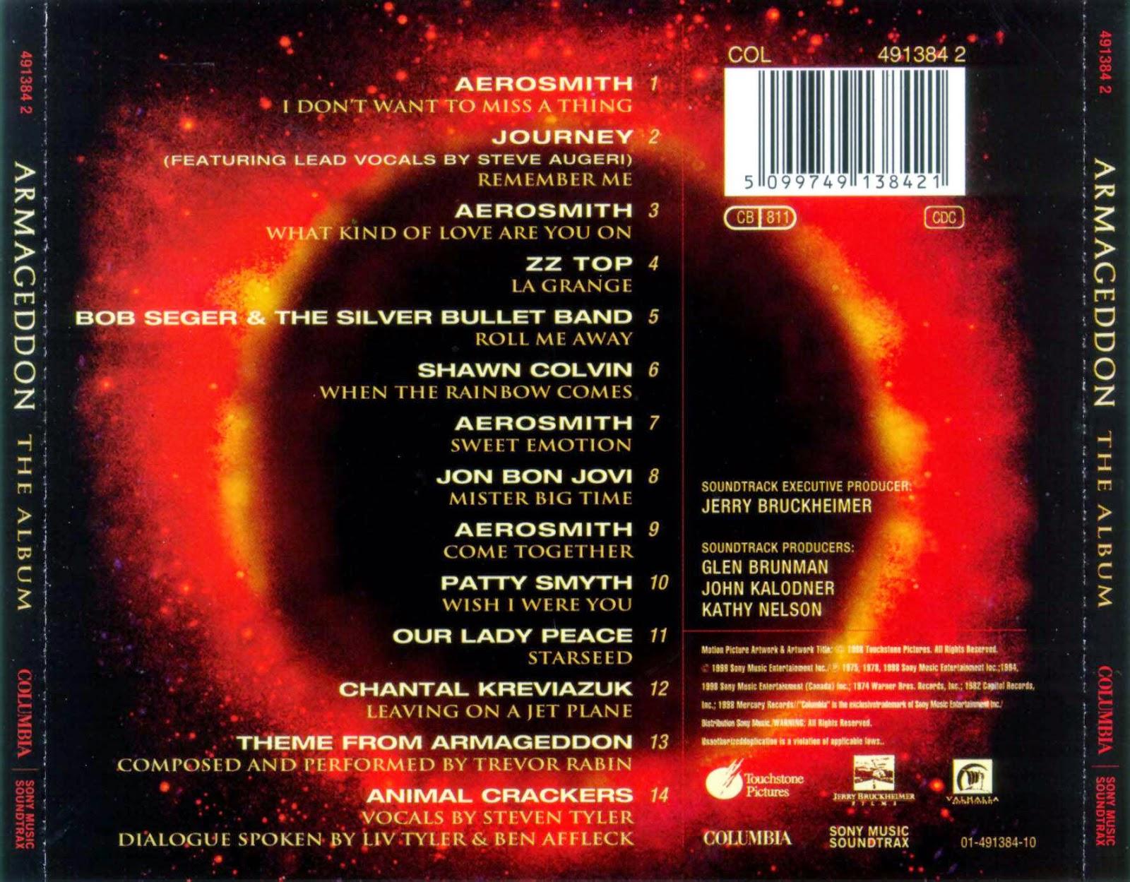 aor night drive quotarmageddonquot soundtrack movie 1998