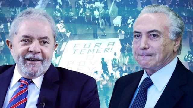 Presidente de Brasil se expresa en contra de recluir a Lula