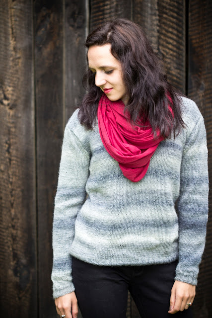 ombre oversize pullover diy farbverlauf wolle