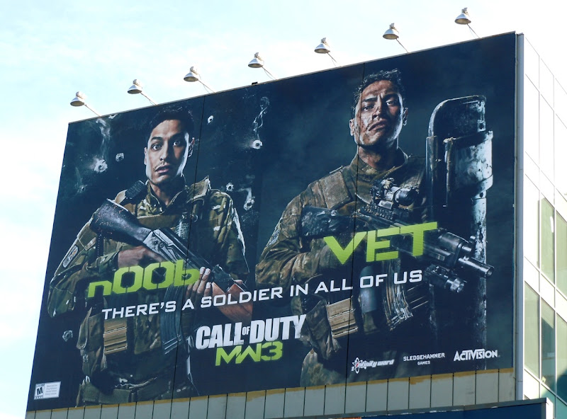 Call of Duty Noob Vet billboard