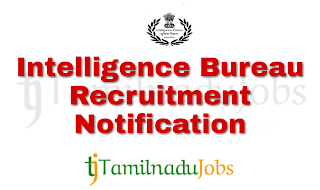 IB Recruitment notification of 2018 | Central govt jobs | 10th pass govt job