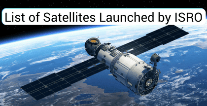 List of Satellites Launched by ISRO