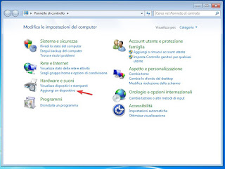 Aggiungi scanner Windows 7