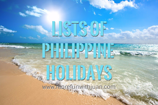 Lists of Holidays in the Philippines