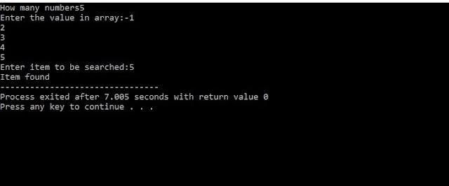 C Program For Binary Search