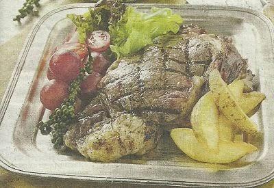 необходимые продукты для приготовления стейка с овощами