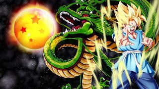 dragon de dragon ball y el guerrero son goku