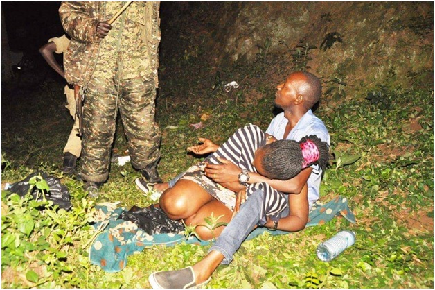6 - SEX in the park! HORNY lovers caught red handed by security having SEX, the man was eating nice goodies (PHOTOs)