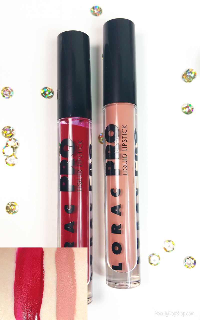 gift guide 2016 LORAC Cosmetics matte liquid lipstick swatches