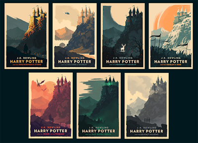 The Harry Potter Book Series Prints by Olly Moss
