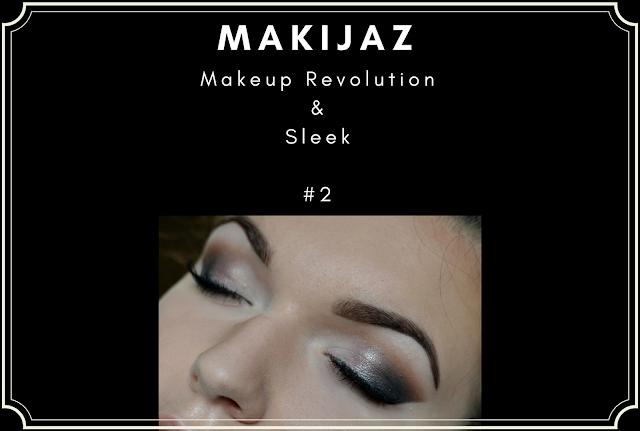 MAKIJAŻ - brąz i złoto - Makeup Revolution & Sleek