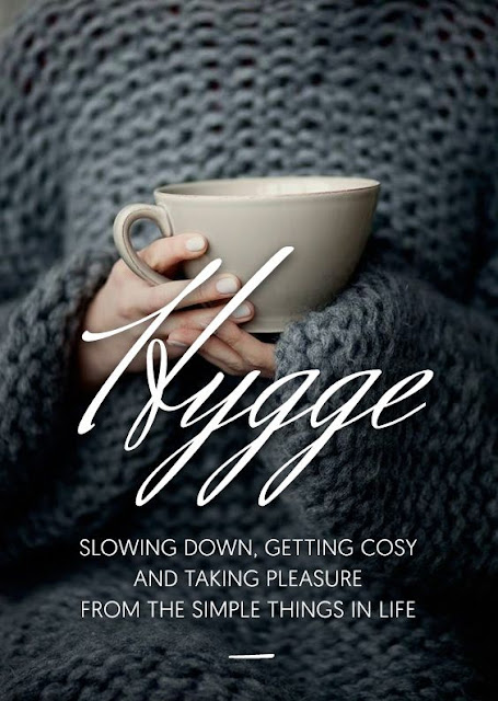 Hygge pinnable infographic about slowing down - found on Hello Lovely Studio