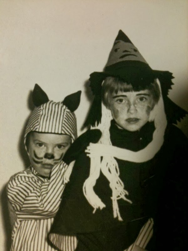 Vintage Witch and Cat Halloween Costume Grace Grits and Gardening