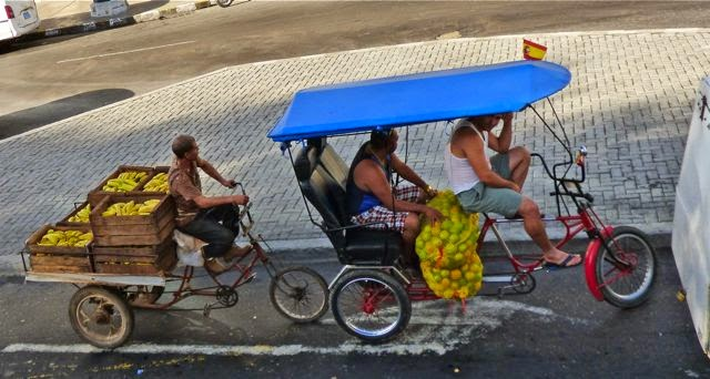 transporting fruit in havana cuba