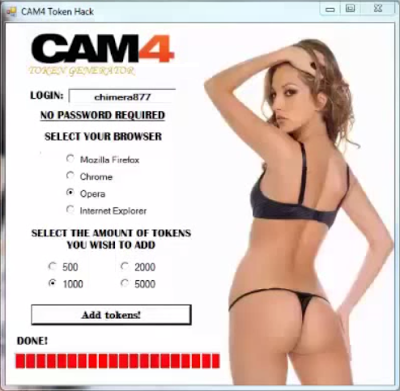 Cam4 Token Adder Activation Code