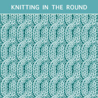 Twist Cable 24 - Knitting in the round
