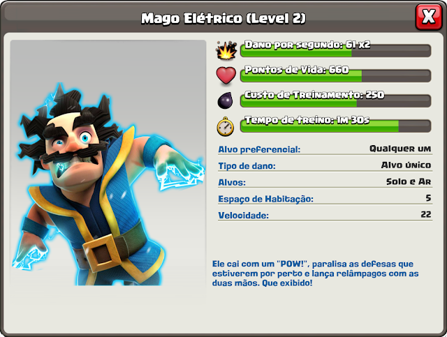 Mago Elétrico no Clash of Clans