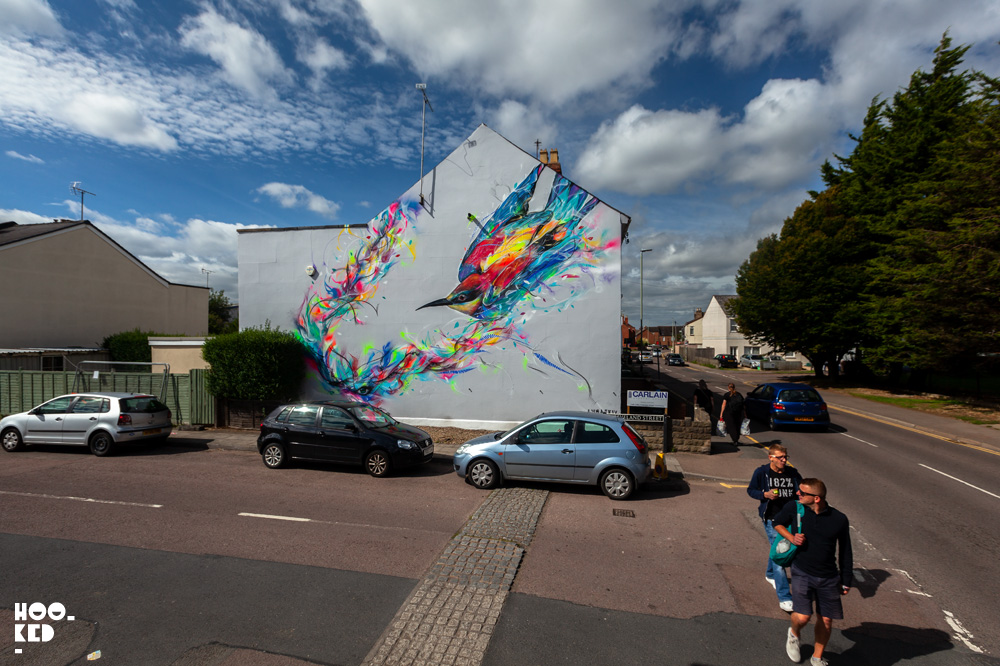 Finished Street Art mural in Cheltenham, UK by artist L7M