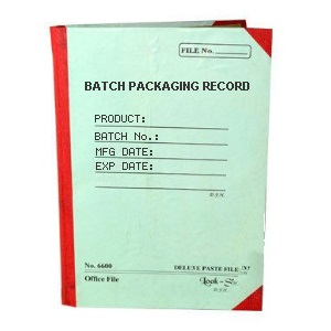 Batch Packaging Record - BPR