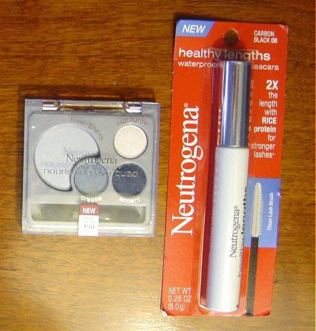 Neutrogena Cosmetics Nourishing Eye Quad and Healthy Lengths mascara