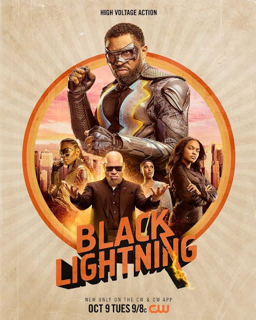 La cadena The CW ha mostrado un primer póster de aspecto pulpo de la segunda temporada de su serie Black Lightning. Su estreno en USA será el 9 de octubre.