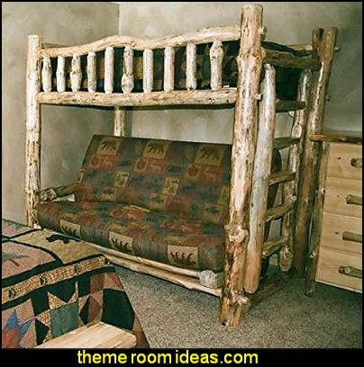 cedar bunk beds rustic furniture log cabin furniture decorating northwoods style