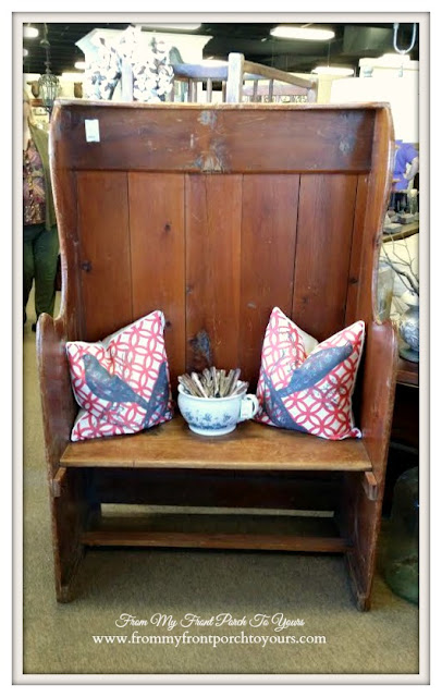 Vintage Bench-Georgia-Antique Shopping-The Savvy Shopper- From My Front Porch To Yours