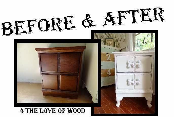 4 The Love Of Wood SHABBY CHIC NIGHTSTANDS