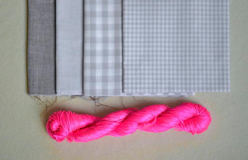 Material para fazer guardanapos de tecido sem máquina de costura