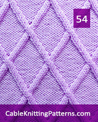 Cable Knitting Pattern 54