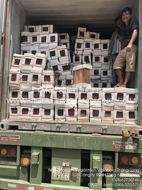 Mẫu ngói men Viglacer nhập container lô hàng mới nhất tại kho Quận 12, TPHCM